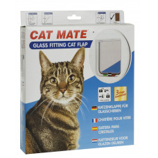 Cat Mate Standard 4 Way Locking Cat Door - glass fitting
