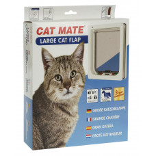 Catmate Large Cat/Small Dog Door - wooden/aluminium fitting