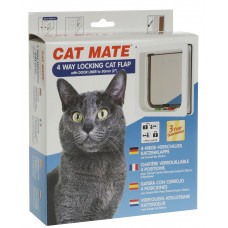 Catmate Standard 4 Way Locking Cat Door - wooden/aluminium fitting