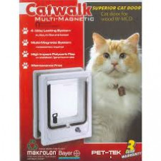 Catwalk Magnetic Pet Door - Wood Fitting (including 2 x collar magnets)
