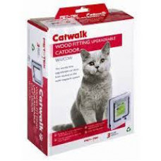 Catwalk Upgradable Pet Door - Wood Fitting (can be upgraded to magnetic later if/when required)