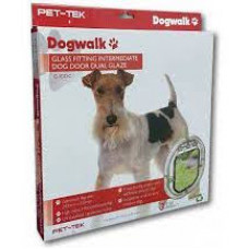 Dogwalk Intermediate Dog Door - Dual Glaze
