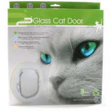 Pet-corp 4 way locking Cat Door - Dual Glaze
