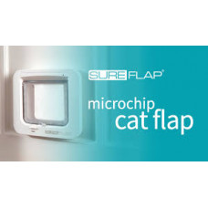 SureFlap Microchip Cat Door - wooden fitting (including batteries)
