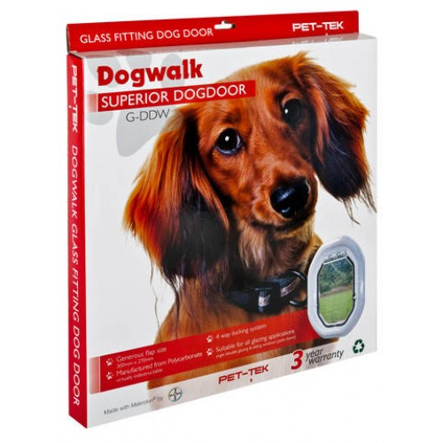 Dogwalk 4 way locking Dog Door